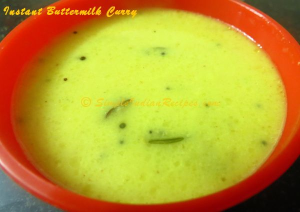 INSTANT BUTTERMILK CURRY: Who doesn't like an instant curry that can ...