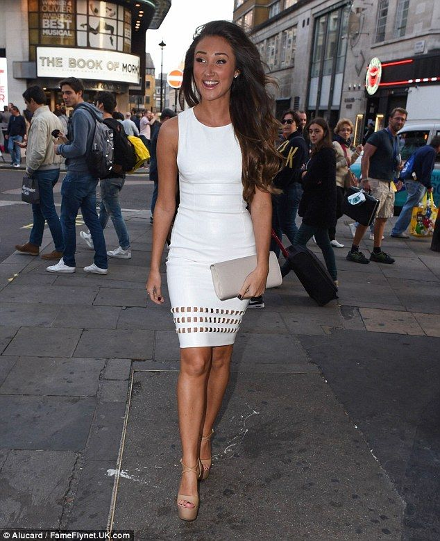 Wonderful in white: Pretty Megan McKenna, who stars in the current third season of Ex On T...