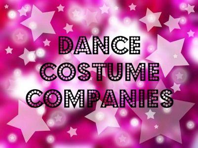 List of Dance Costume Companies