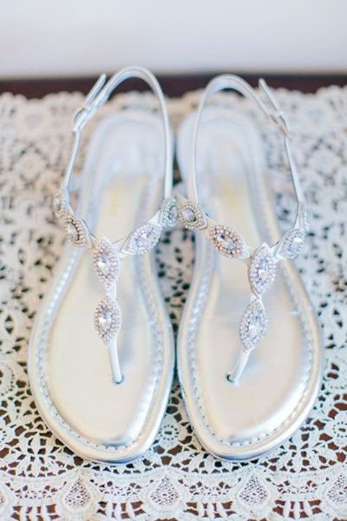 May wedding jeweled sandals for brides, Sliver shoes for May wedding www.loveitsomuch.com