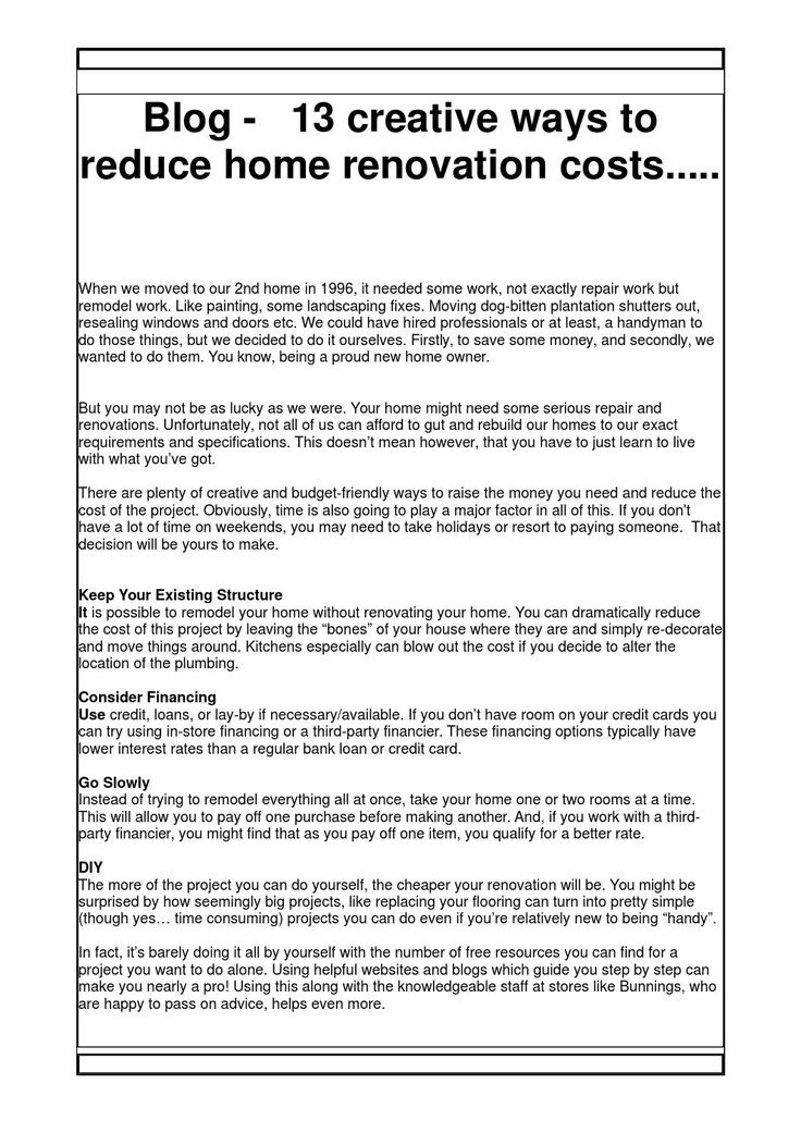 Blog 13 creative ways to reduce home renovation costs