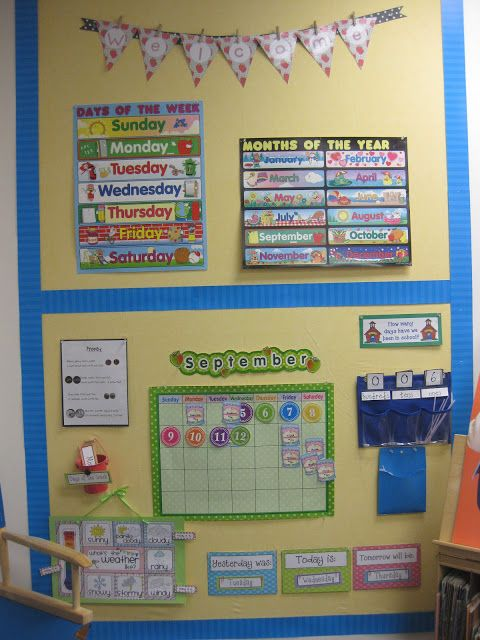 Kindergarten Calendar Center : Ideas about kindergarten bulletin boards on