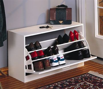 modern shoe storage and organizers for under built in bench seat in mudroom