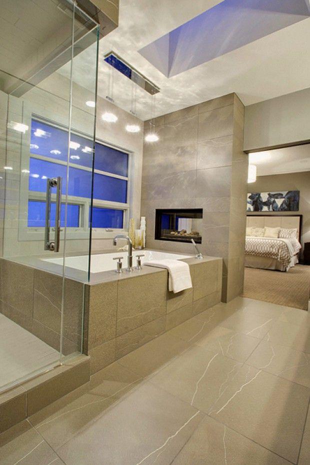 Искусственный гранит в интерьере ванной