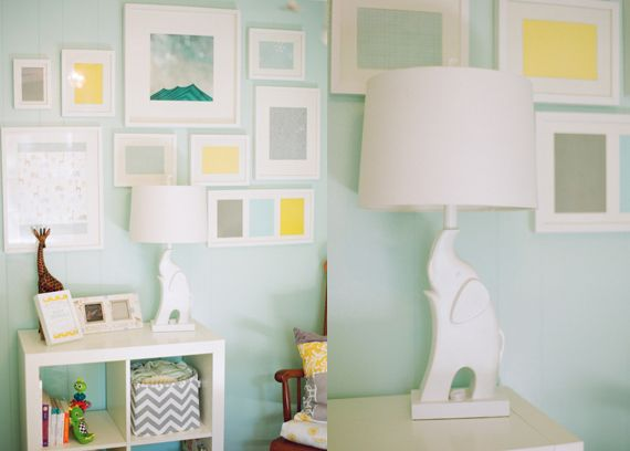 Mint Yellow Grey Nursery Perfect Gender Neutral For The Littles Pinterest Baby And