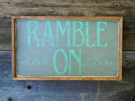 Rock and Roll Sign Wood Signs Bar Signs Rustic by CrowBarDsigns, $30.00