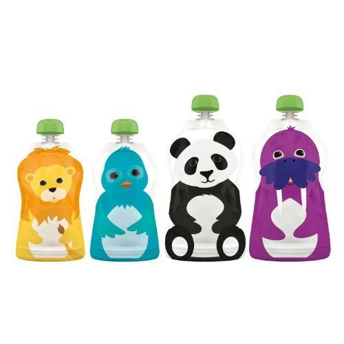 Adorable Reusable Food Pouch (Pack of 4) by Squooshi. Tested them out this week and my kids loved them.
