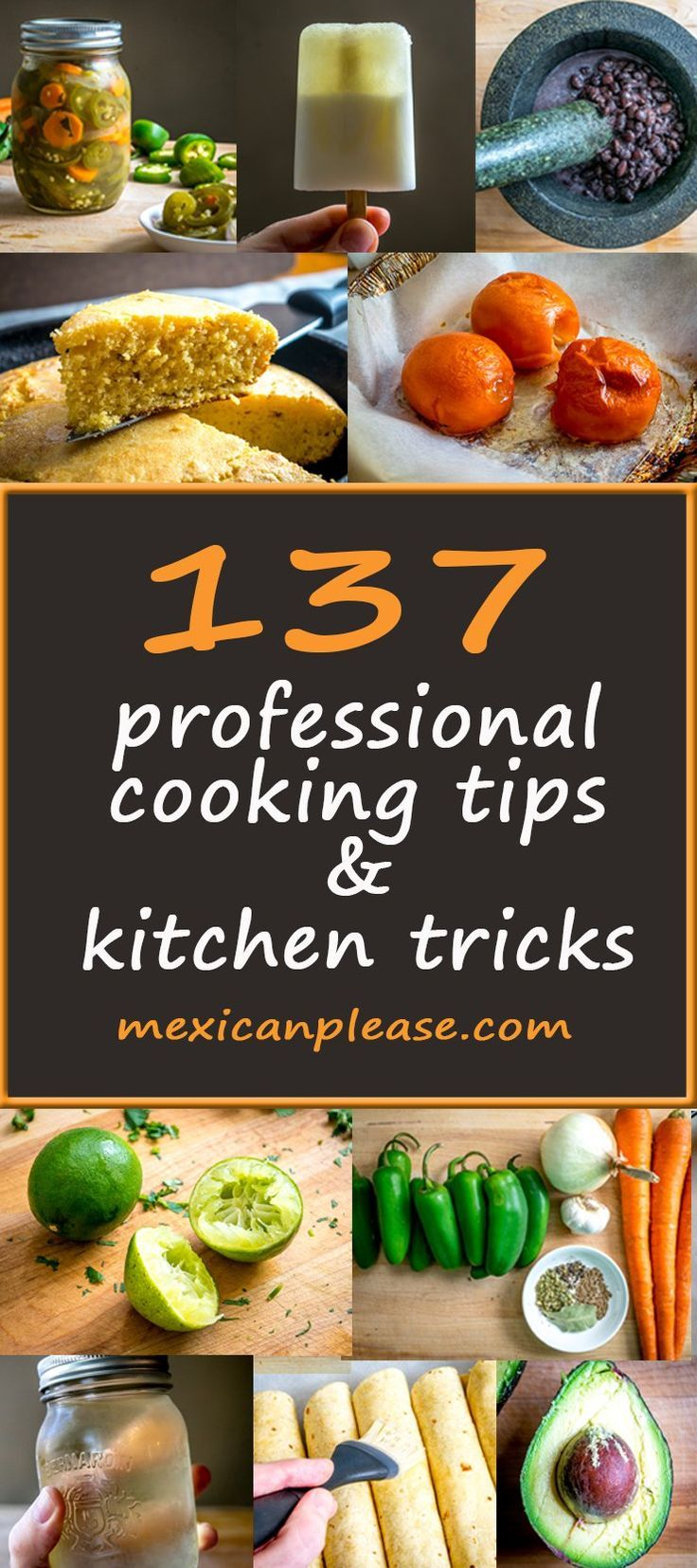 A wealth of kitchen knowledge from today's top food bloggers.  You can scan the list in ten minutes and absorb a lifetime of experience.  So cool!  mexicanplease.com
