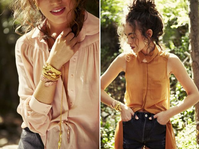 Luv it.Summer Staples, Fashion Style, Dirty Pink, Colors, Gold Bracelets, Pale Pink, Cute Blouses, Pink And Gold, Mrkate