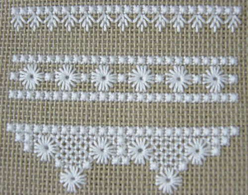 Hapsburg Lace Sampler - WIP by stitch-play, via Flickr