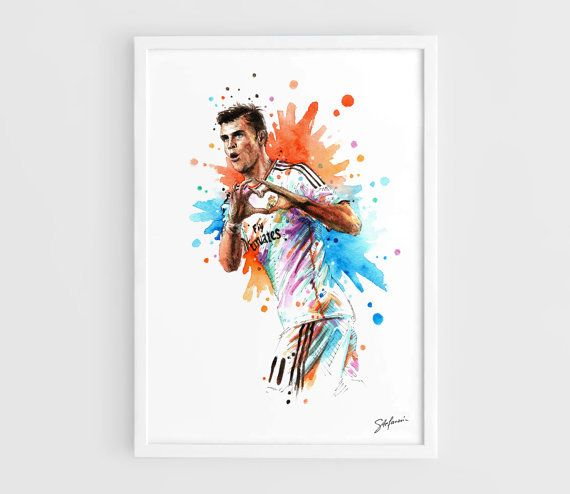 Gareth Bale Real Madrid A3 Art Prints of the Original by NazarArt, $25.00
