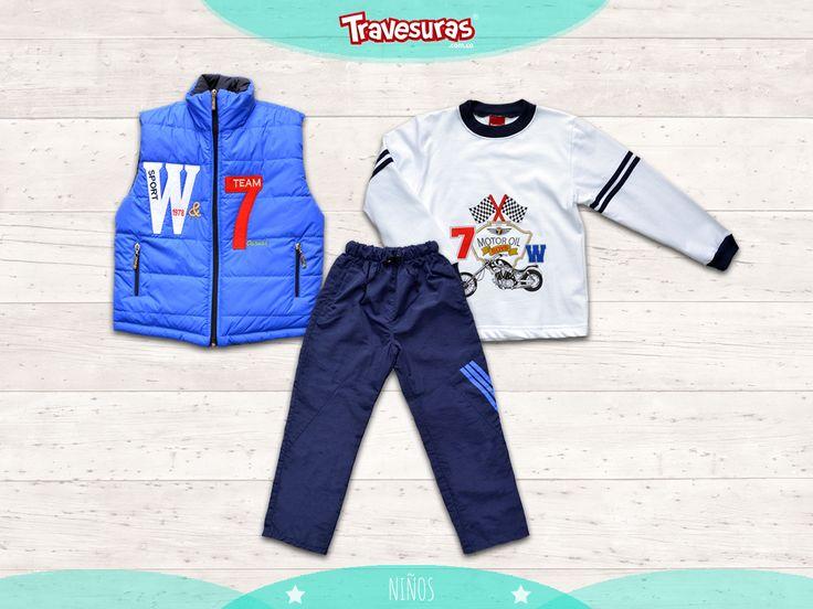 Para los pequeños este estilo de sudadera que será su prenda preferida para salir a jugar en estas vacaciones. http://travesuras.com.co/producto/sudadera-chaleco-azul-rey/
