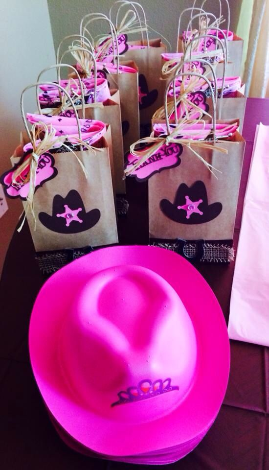 Sheriff Callie Thank You Party Favor Bags and Princess Hats for Girls