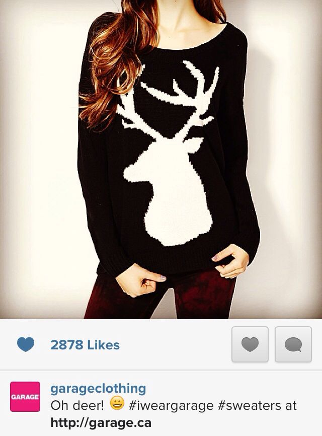 I want this sweater from Garage Clothing!