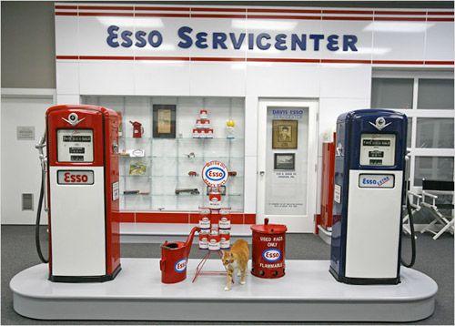 esso service stations 1950s garage pinterest. Black Bedroom Furniture Sets. Home Design Ideas