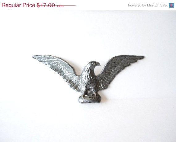 Vintage Eagle  Cast Iron Ornamental by MargsMostlyVintage on Etsy