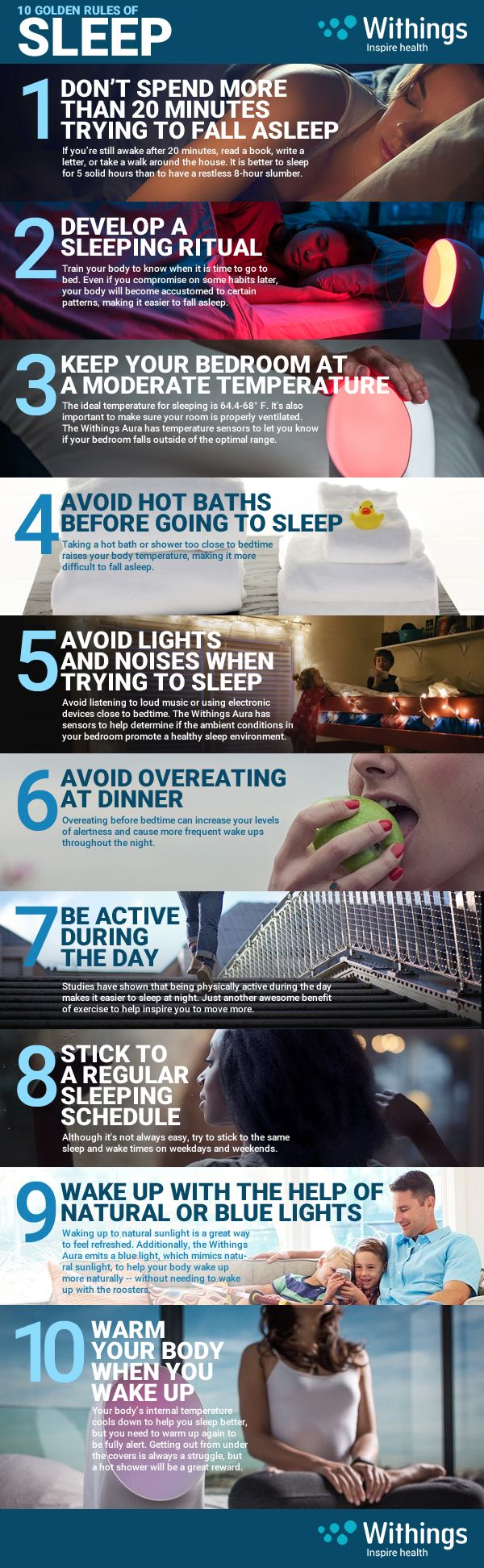 10 Ways to a better night's sleep