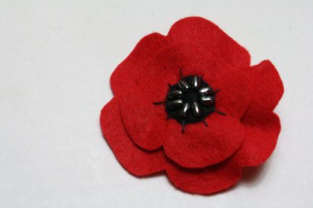 I just made a pin and it turned out great! It was easy to make, took less than 45 minutes, and cost about five dollars. Perfect way to remember the fallen on Veterans/Armistice Day, especially those of WWI. We in the US have all but forgotten it, and I think wearing poppies is a great tradition.