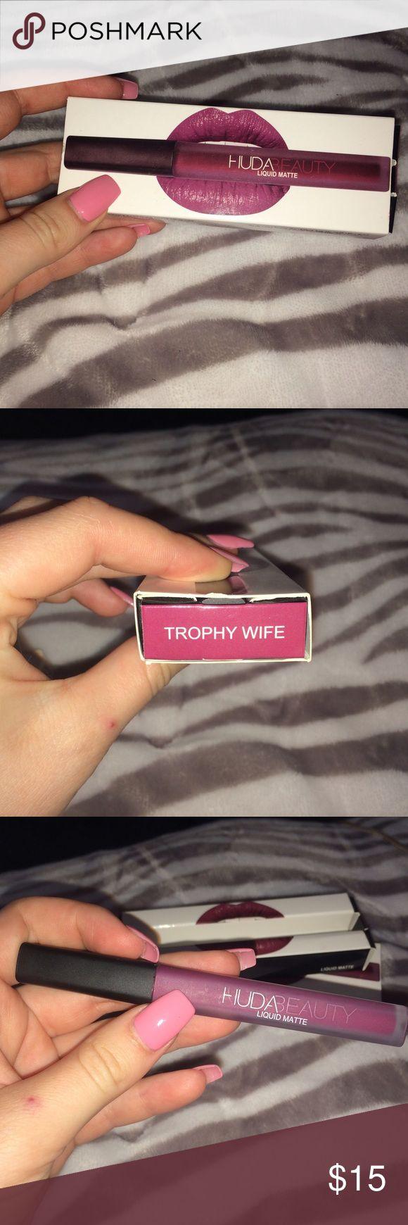 Huda liquid Lipstick:TROPHY WIFE Plum purple color. Never been worn. huda beauty Makeup Lipstick