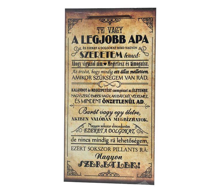Szöveges Fa Fali Tábla - Legjobb Apa - Adiel.hu #minta #vicces #szöveg #dekoráció #fal #fatábla