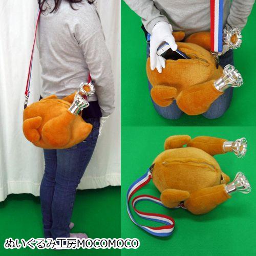 【完売しました】クリスマス限定★七面鳥の丸焼きショルダーバッグラッピングセット