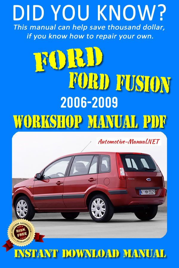 Download Ford Fusion 2006 2009 Workshop Manual Pdf Ford Fusion 2006 Ford Fusion Repair Manuals