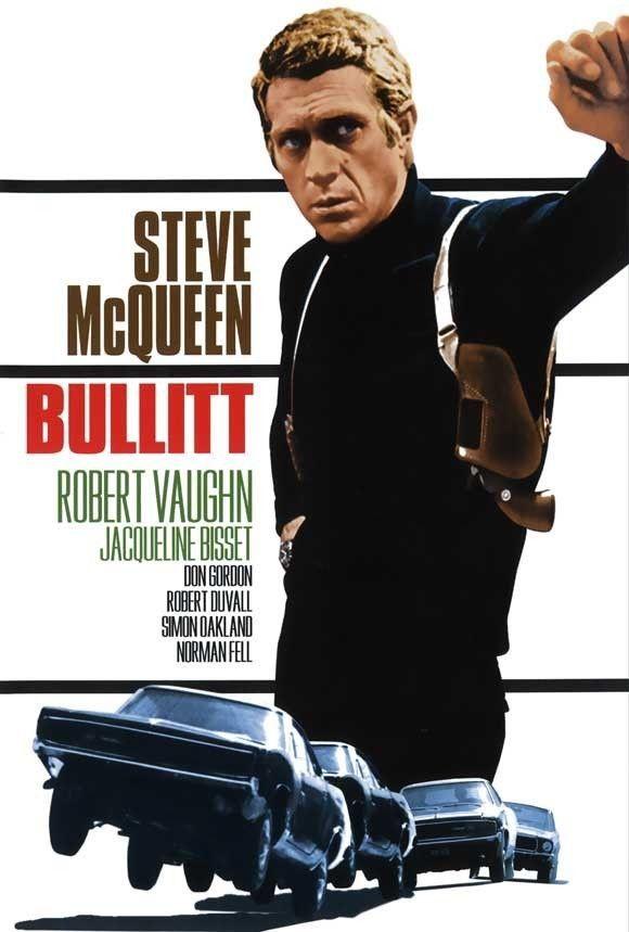 bullitt 1968 27 x 40 movie poster steve mcqueen robert vaughn sp. Black Bedroom Furniture Sets. Home Design Ideas