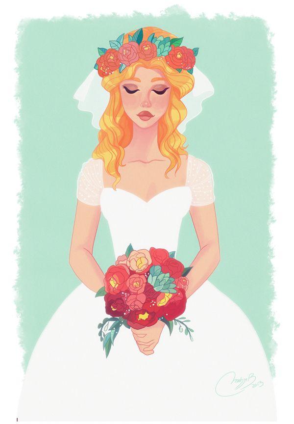 Illustration mariée