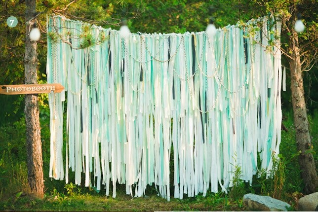 backdrop for a backyard wedding