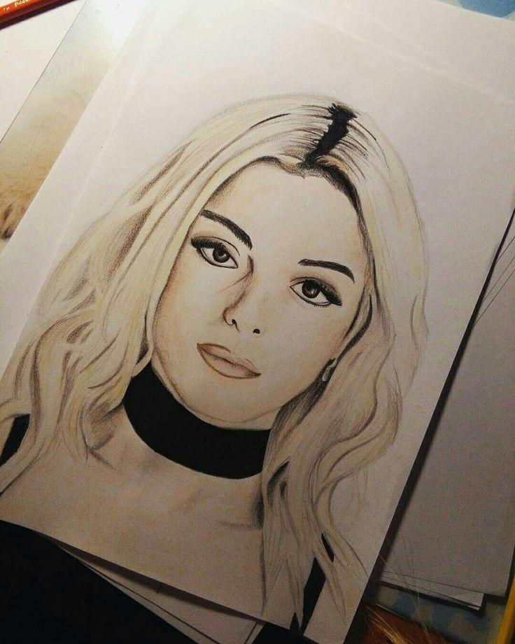 Bebe Rexha ❤ Drawing Portrait Draw Fanart