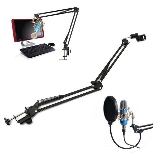 Barato Pro microfone suspensão lança Scissor braço do suporte de suporte de estúdio de som, Compro Qualidade Microfones diretamente de fornecedores da China: Introdução: O microfone de gravação profissional você está olha