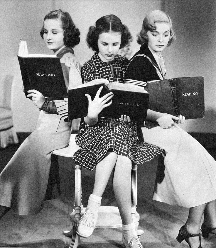 Barbara Read, Deanna Durbin and Nan Grey in Three Smart Girls, 1936.    The three Craig sisters, in Switzerland with their divorced mother, run away to New York to prevent their father from marrying calculating socialite Donna Lyons. The overpowering vivacity of the Smart Girls (nominal ages 14-20) sweeps all before it, but a romantic complication between middle sister Kay and their accidental ally, Lord Michael Stuart, threatens shipwreck to their schemes…