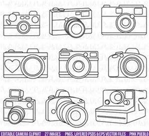 Image result for Camera Outline Clip Art