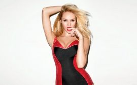 Download Candice Swanepoel Red Dress HD Desktop Wallpapers From High Quality Resolution
