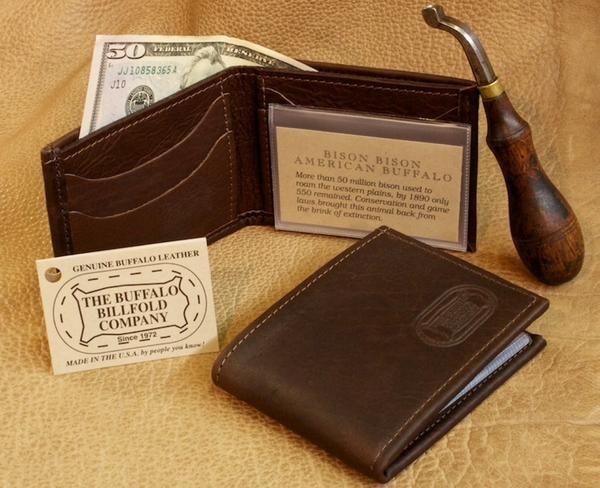 Buffalo Leather Bifold Wallet Leather Bifold Wallet Buffalo Leather Bi Fold Wallet