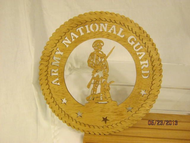 US ARMY NATIONAL Guard  Scroll Saw Plaque by mikeswoodworking, $15.00