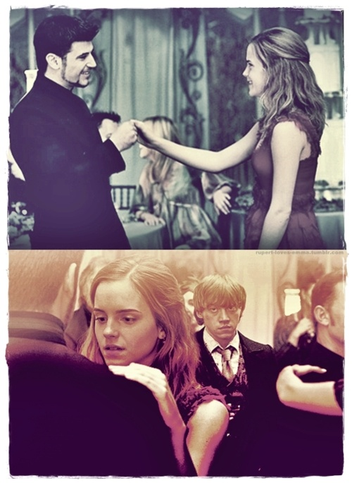 Deleted scene of Hermione dancing with Krum at Bill and Fleur's wedding. Why. WHY! Why couldn't this be in the movie!!