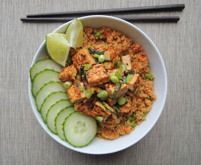 Stir-Fried Quinoa (with basil tofu)- Domesticate ME!