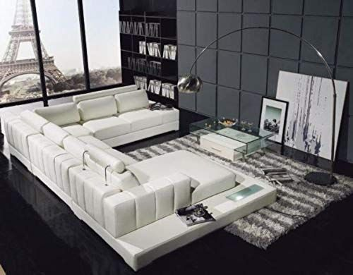 Enjoy exclusive for VIG Furniture T11 White Leather Sectional Sofa