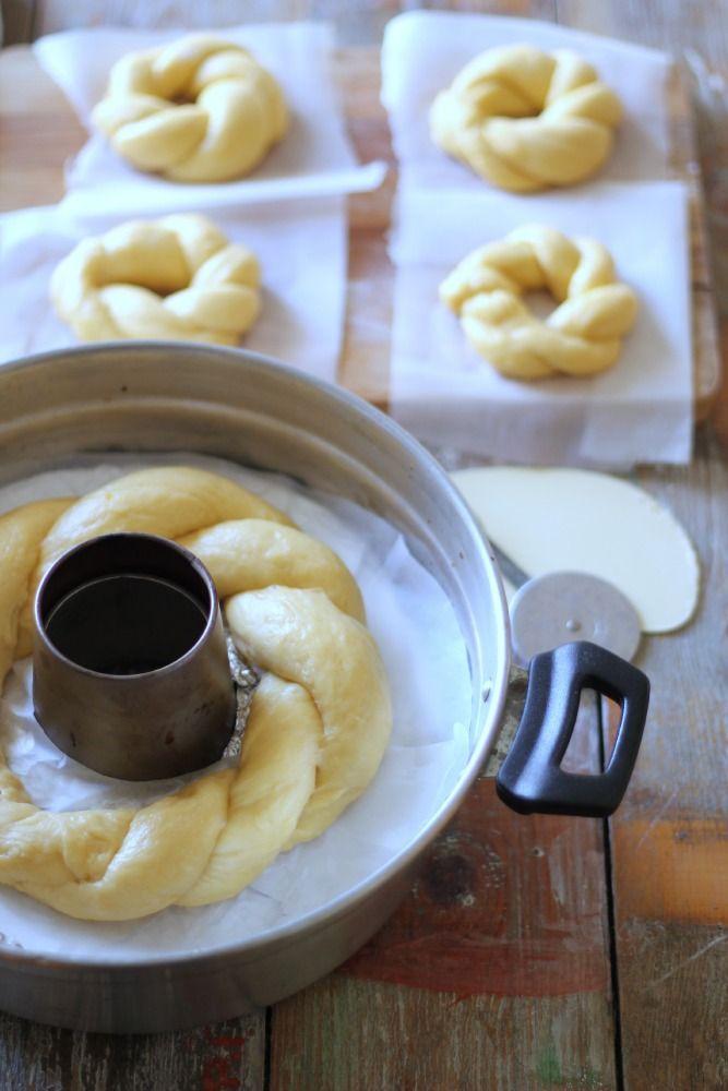 """""""di cuore"""": ghirlanda di pan brioche in pentola fornetto"""