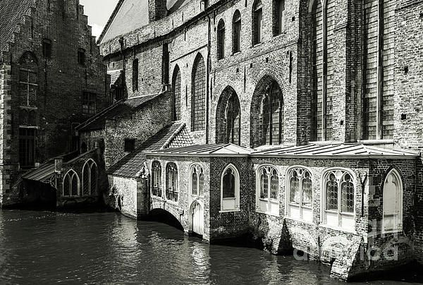 Beautiful Bruges Series by Lexa Harpell. Medieval Architecture on the Canal.