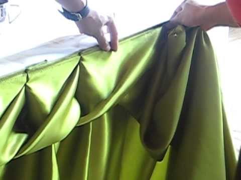 ▶ การจับผ้าแบบลายเกลียว - By Suppaluck - YouTube how to drape a table