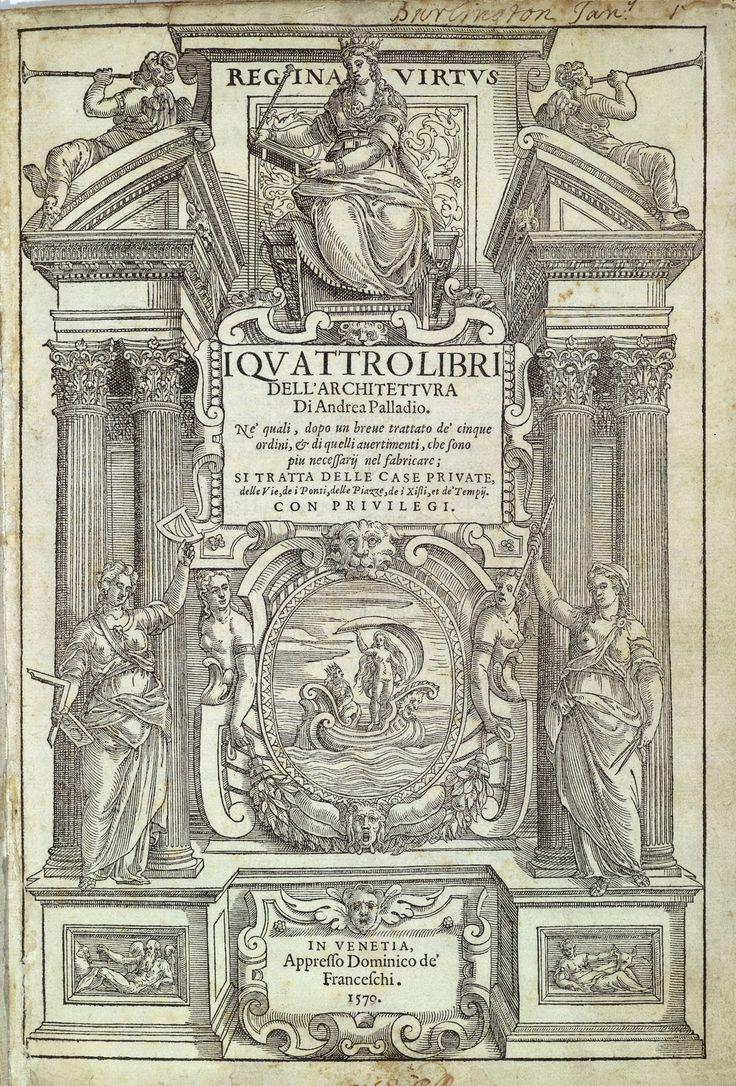 Palladio - I quattro libri ... - Portada primera edición (Venecia, 1570)