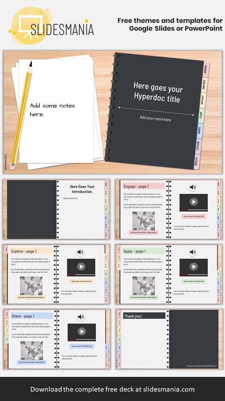 Free Hyperdoc Handbook Template For Google Slides Or Powerpoint Interactive Notebooks Templates Notebook Templates Powerpoint Design Templates