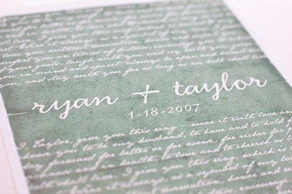 wedding vows print gifts wedding-ideals