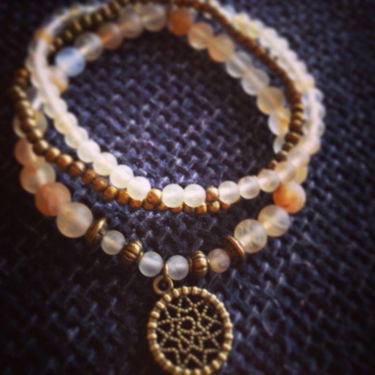 Yellow Volcano quartz, bracelet