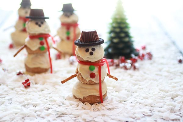 Frosty the Snowmen made with peanut butter coconut truffle balls #tasteamazing #recipes #holidays