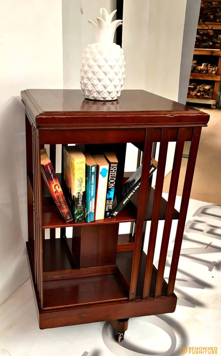This antique rotary book shelf was rebuilt and re-polished to bring it back to life. Quite unique, don't you think?  http://renownedfurniture.com.au/restoration/completed-book-mill/  #bookmill #bookshelf #furniture #woodfurniture #furniturerestoration #restoration #furniturerepair
