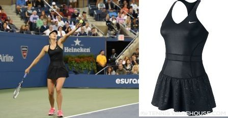 Nike's tennis version of a little black dress for Maria Sharapova's nights at the 2014 US Open