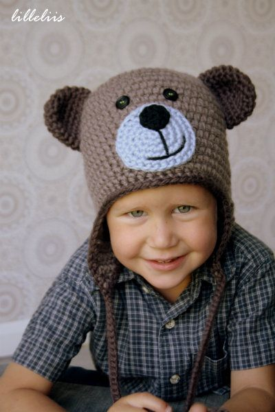 Crochet teddy bear hat – free pattern